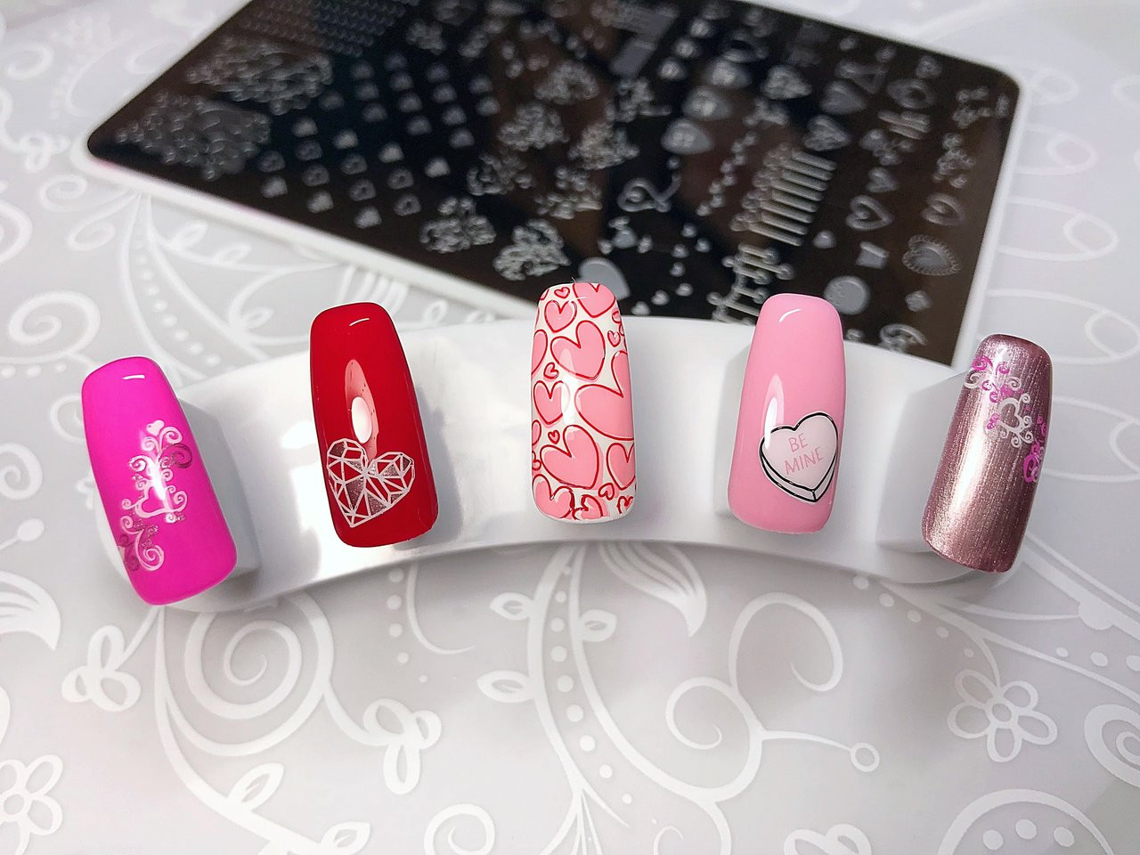 Show the Love nail stamping plate by Clear Jelly Stamper. Available in the USA at www.lanternandwren.com