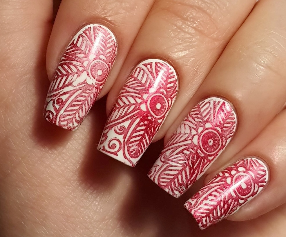 Kaleidoscope No. Stm-28 - The Paradise Nail Stamping Polish by El Corazon, 9 ml, available at www.lanternandwren.com.