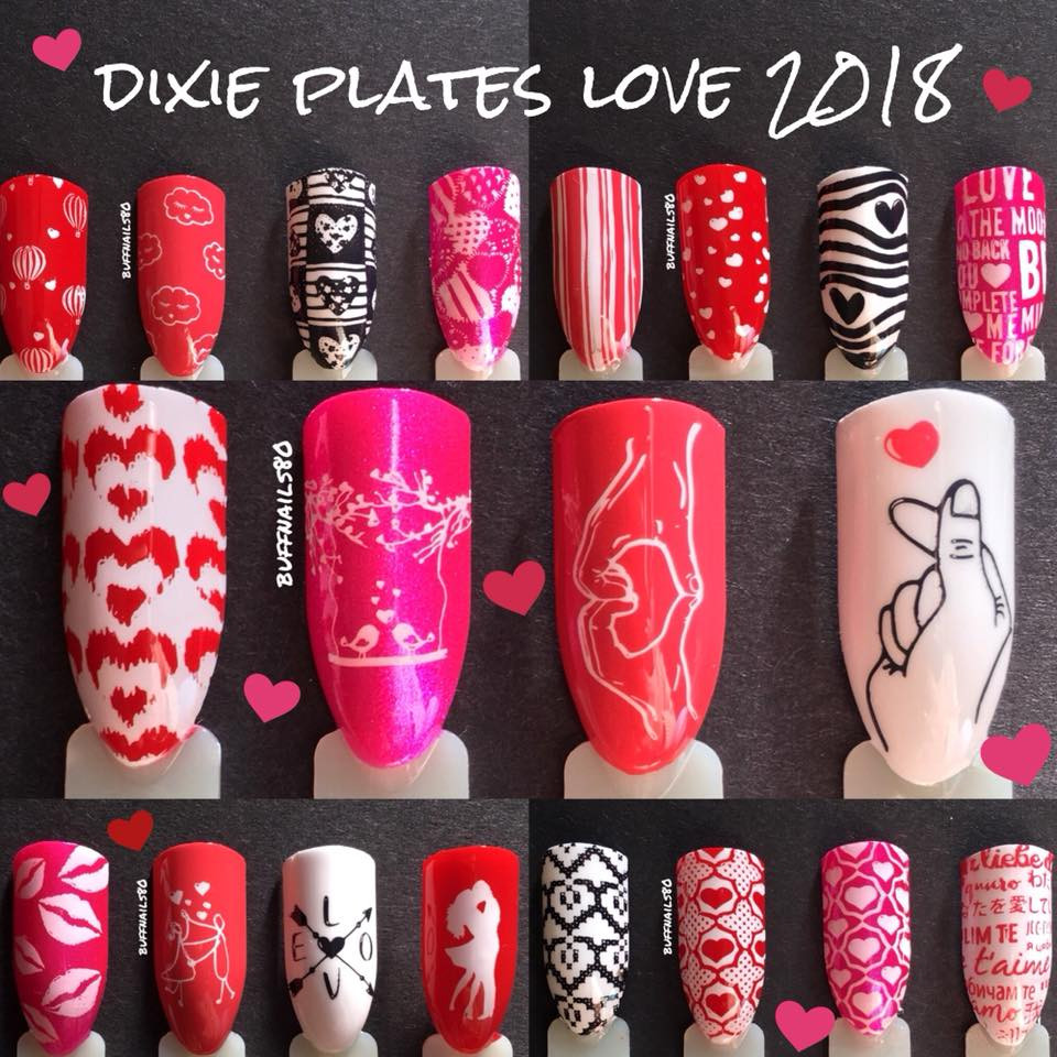 Dixie Plates Love 2018 Nail Stamping Plate Available At Www Lanternandwren