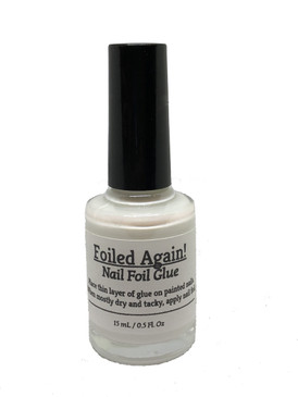 Foiled Again nail foil glue. Available only at www.lanternandwren.com.