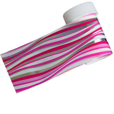 Pink and Silver Stripes holo nail foil. Available at www.lanternandwren.com.