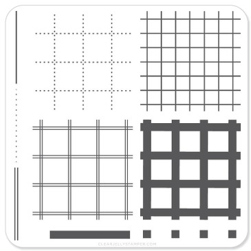 Perfectly Plaid nail stamping plate by Clear Jelly Stamper, available at www.lanternandwren.com.