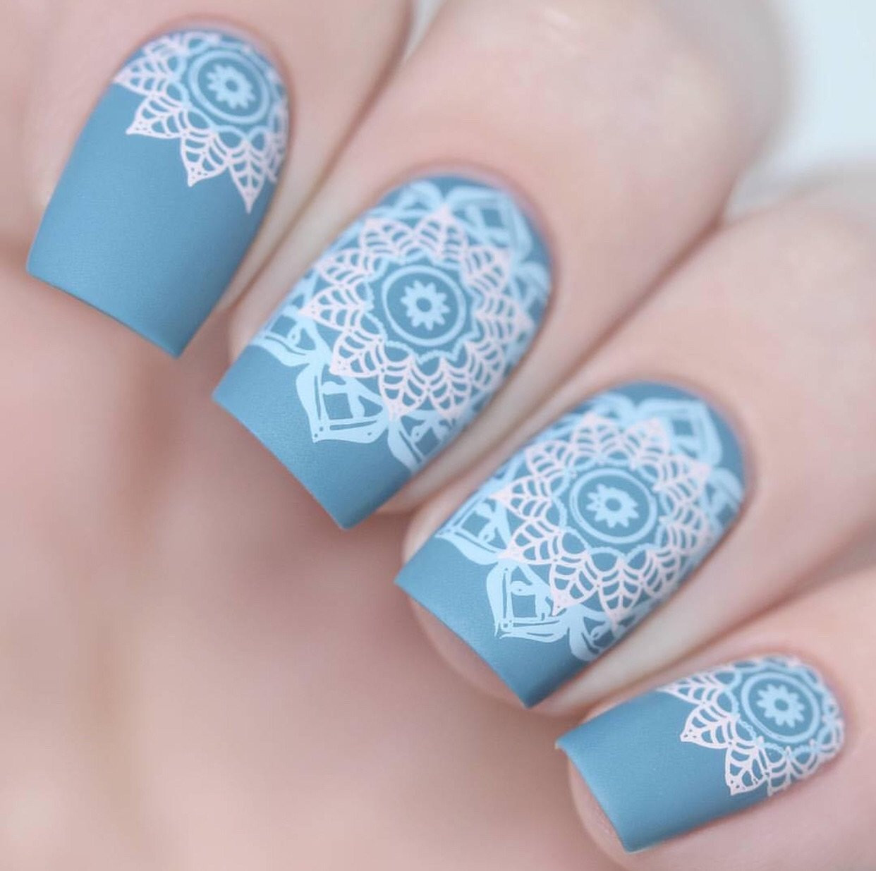 Myriad of Mandalas nail stamping plate by Clear Jelly Stamper. Available in the USA at www.lanternandwren.com.