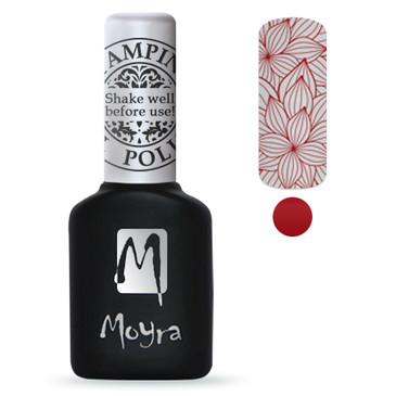 Red GEL stamping polish from Moyra. Available at Lantern & Wren.