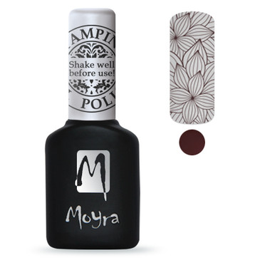 Brown GEL stamping polish from Moyra. Available at Lantern & Wren.