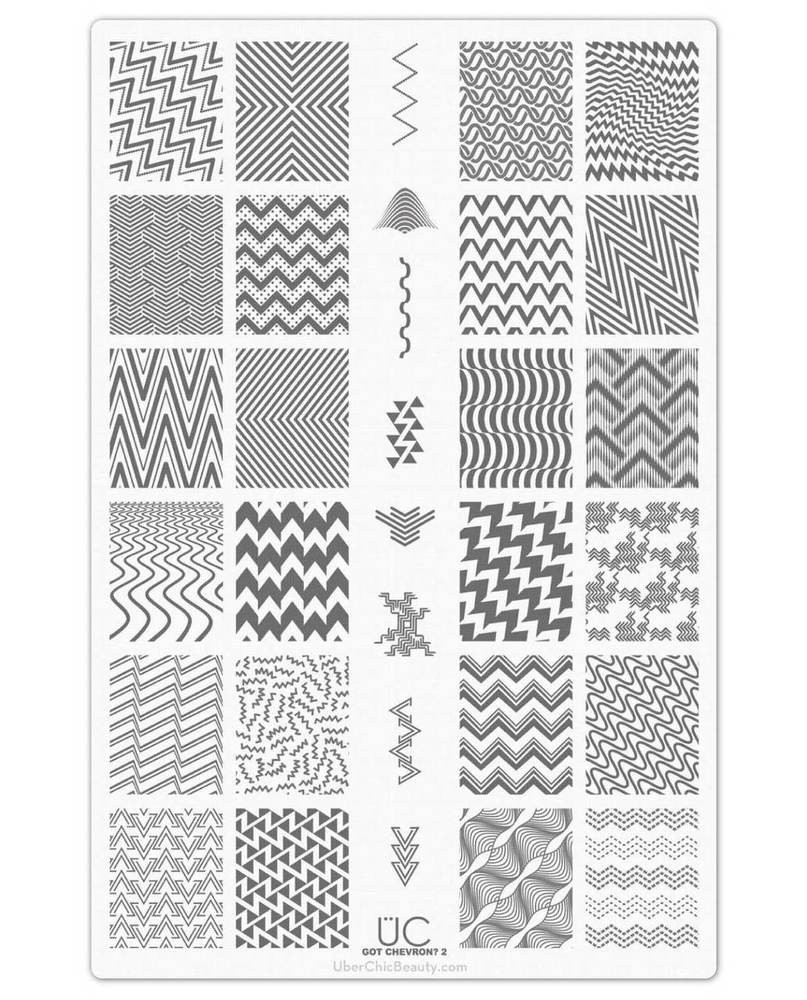 Get Chevron 2 nail art stamping plate by Uber Chic. Available at www.lanternandwren.com.