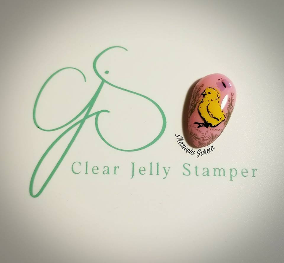 Victorian Easter nail stamping plate by Clear Jelly Stamper, available at www.lanternandwren.com.