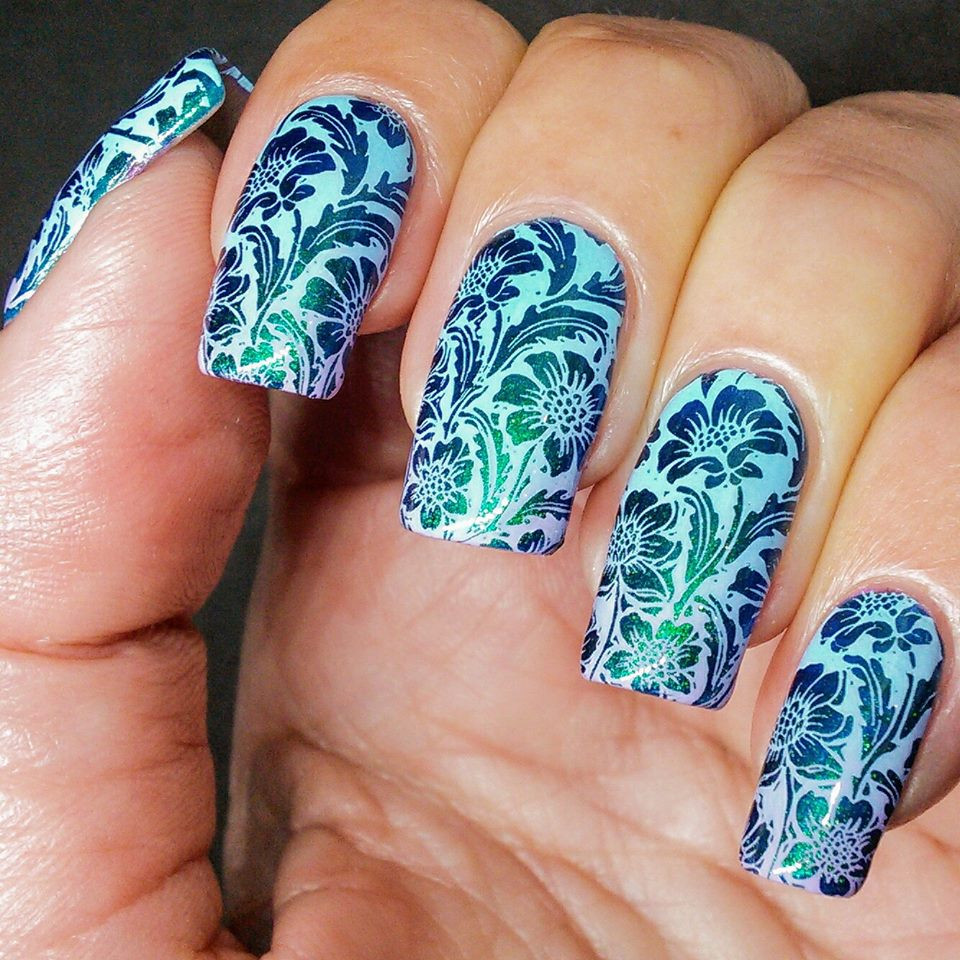 Arctic Cloudberry stamping nail polish from Hit the Bottle!  Free USA shipping available.