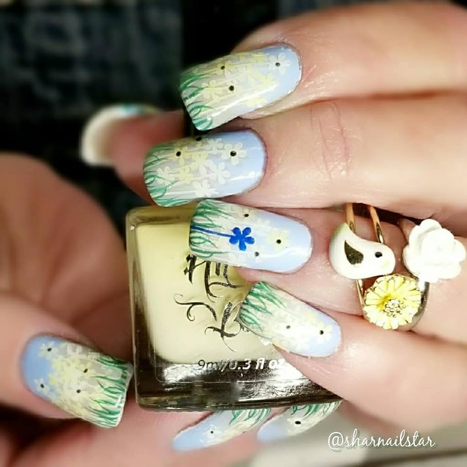 Lemon Meringue Fizz stamping nail polish from Hit the Bottle!  Free USA shipping available.