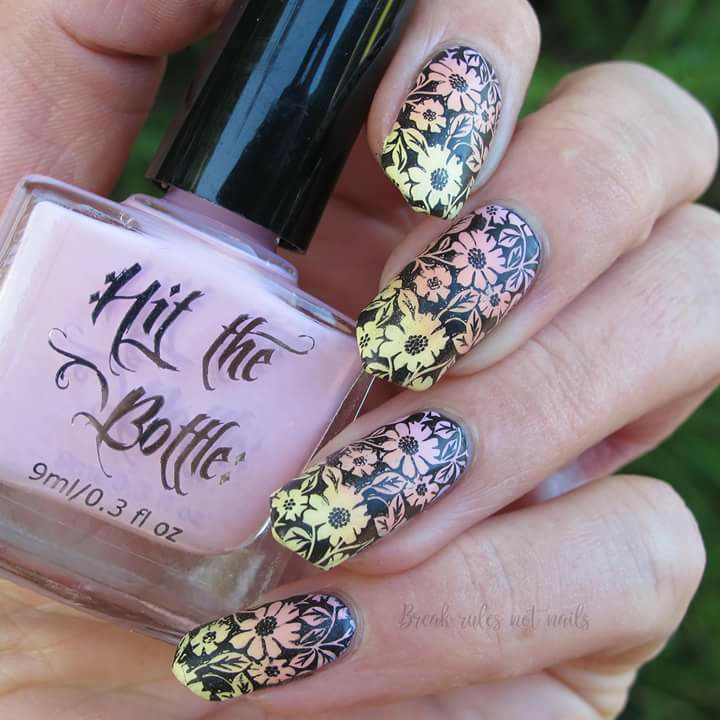 Apricot Sour stamping nail polish from Hit the Bottle!  Free USA shipping available.