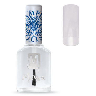 Moyra's SP00 stamping top coat is a durable top coat to protect your nail art. Available at www.lanternandwren.com.