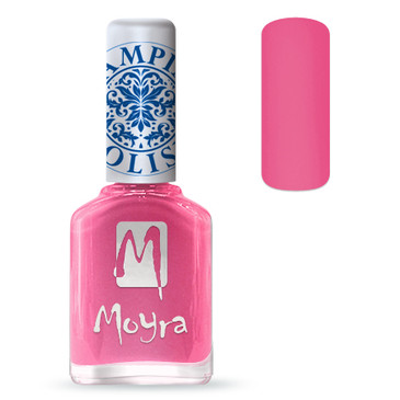 Moyra SP01 pink nail stamping polish. Available at www.lanternandwren.com.