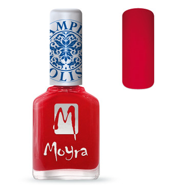 Moyra SP02 red nail stamping polish. Available at www.lanternandwren.com.