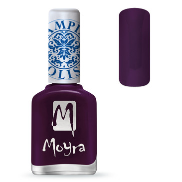 Moyra SP04 purple nail stamping polish. Available at www.lanternandwren.com.
