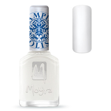 Moyra SP07 white nail stamping polish. Available at www.lanternandwren.com.