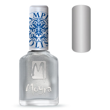 Moyra SP08 silver nail stamping polish. Available at www.lanternandwren.com.