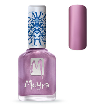 Moyra SP10 metal rose nail stamping polish. Available at www.lanternandwren.com.