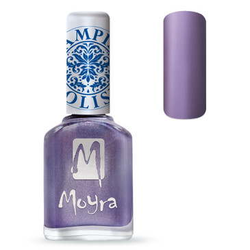 Moyra SP11 metal purple nail stamping polish. Available at www.lanternandwren.com.