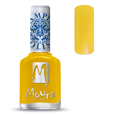 Moyra SP12 yellow nail stamping polish. Available at www.lanternandwren.com.