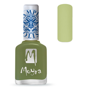 Moyra SP15 light green stamping polish. Available at www.lanternandwren.com.