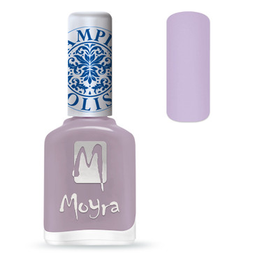 Moyra SP16 light violet stamping polish. Available at www.lanternandwren.com.