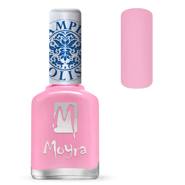 Moyra SP19 light pink stamping polish. Available at www.lanternandwren.com.