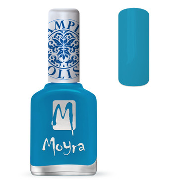 Moyra SP22 turquoise stamping polish. Available at www.lanternandwren.com.