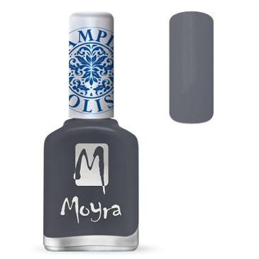 Moyra SP23 grey stamping polish. Available at www.lanternandwren.com.