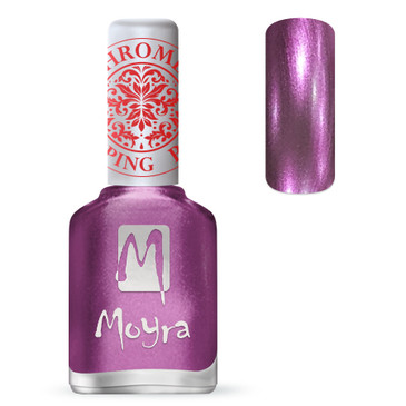 Moyra SP28 chrome purple stamping polish. Available at www.lanternandwren.com.