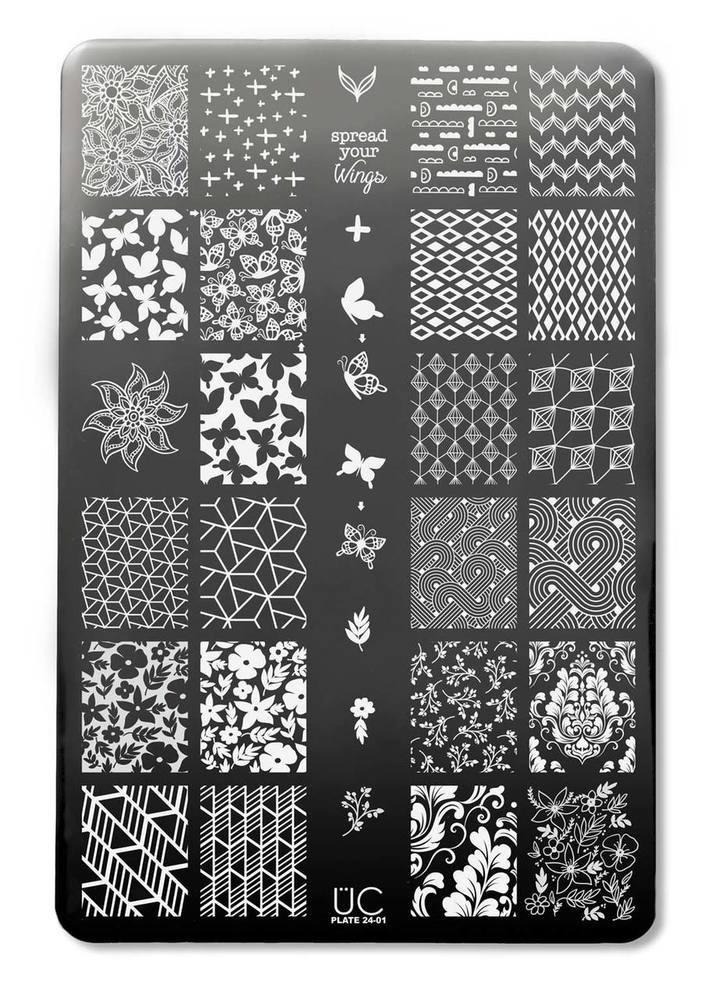 Uber Chic Collection 24 nail stamping plates, available at www.lanternandwren.com.