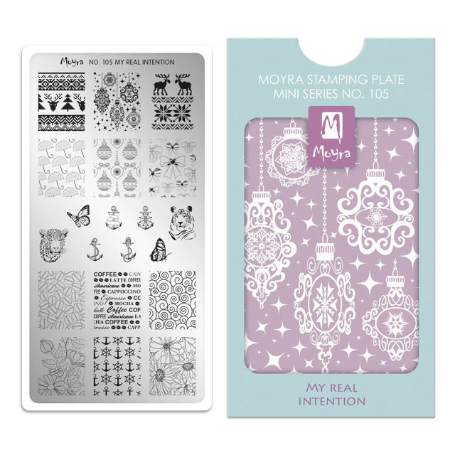 My Real Intention, Moyra Mini Stamping Plate 105. Available at www.lanternandwren.com.