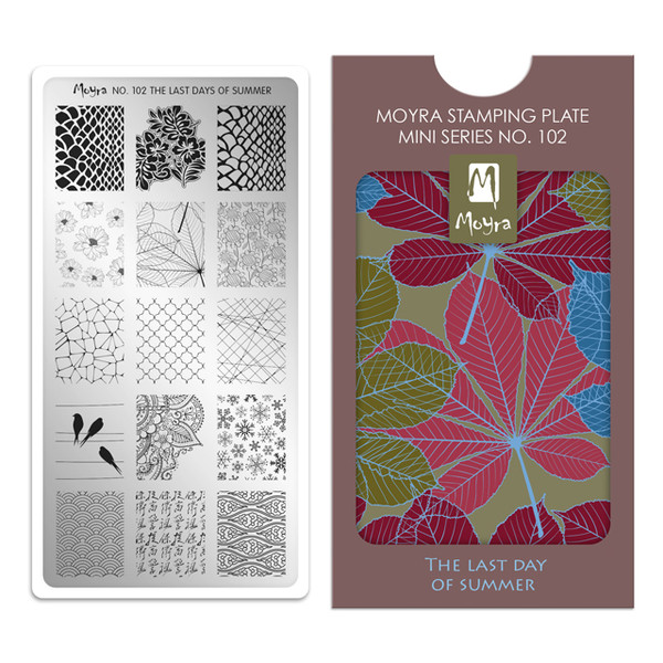 The Last Day of Summer, Moyra Mini Stamping Plate 102. Available at www.lanternandwren.com.