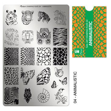 Animalistic, Moyra Mini Stamping Plate 04. Available at www.lanternandwren.com.