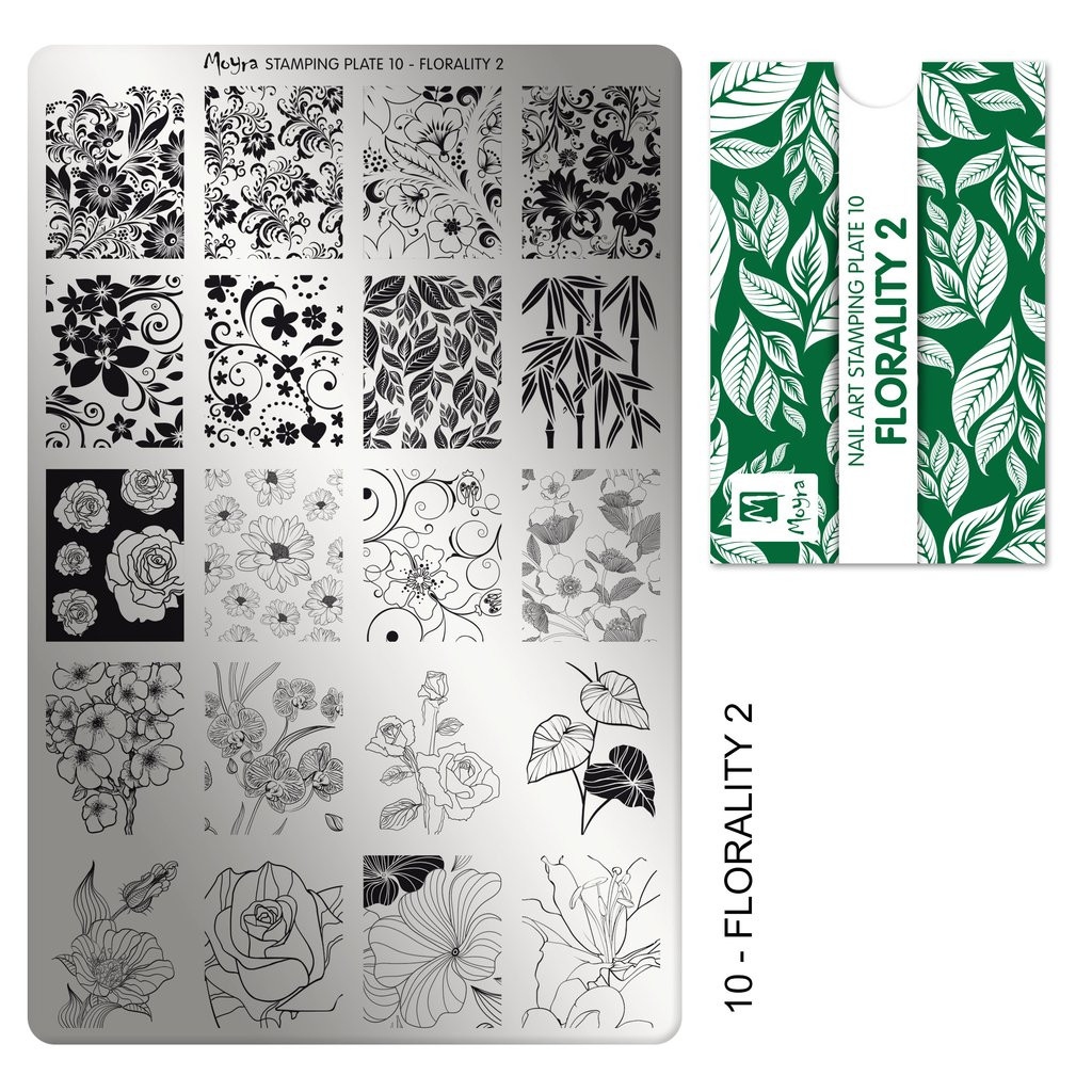 Moyra Florality 2 stamping plate, #10. Available at www.lanternandwren.com.