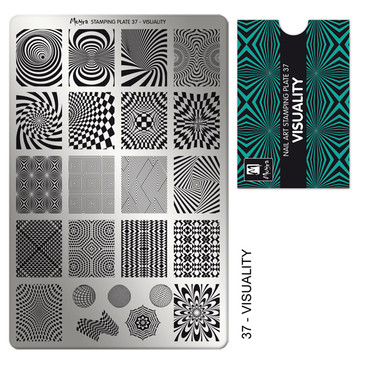 Moyra Visuality stamping plate, #37. Available at www.lanternandwren.com.