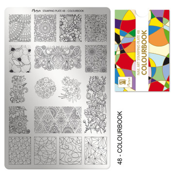 Moyra Colourbook stamping plate, #48. Available at www.lanternandwren.com.