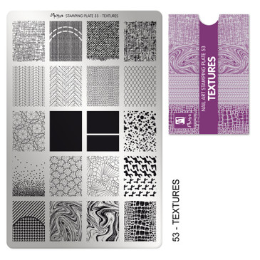 Moyra Textures stamping plate, #53. Available at www.lanternandwren.com.