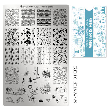 Moyra Winter is Here stamping plate, #57. Available at www.lanternandwren.com.
