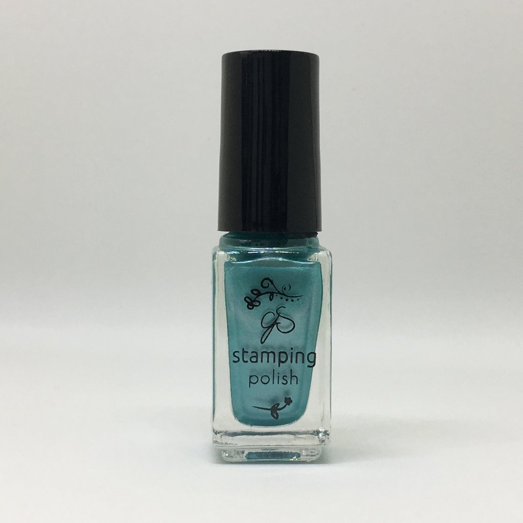 Clear Jelly Stamper nail stamping polish, #37 Caribbean Dream. Available at www.lanternandwren.com.