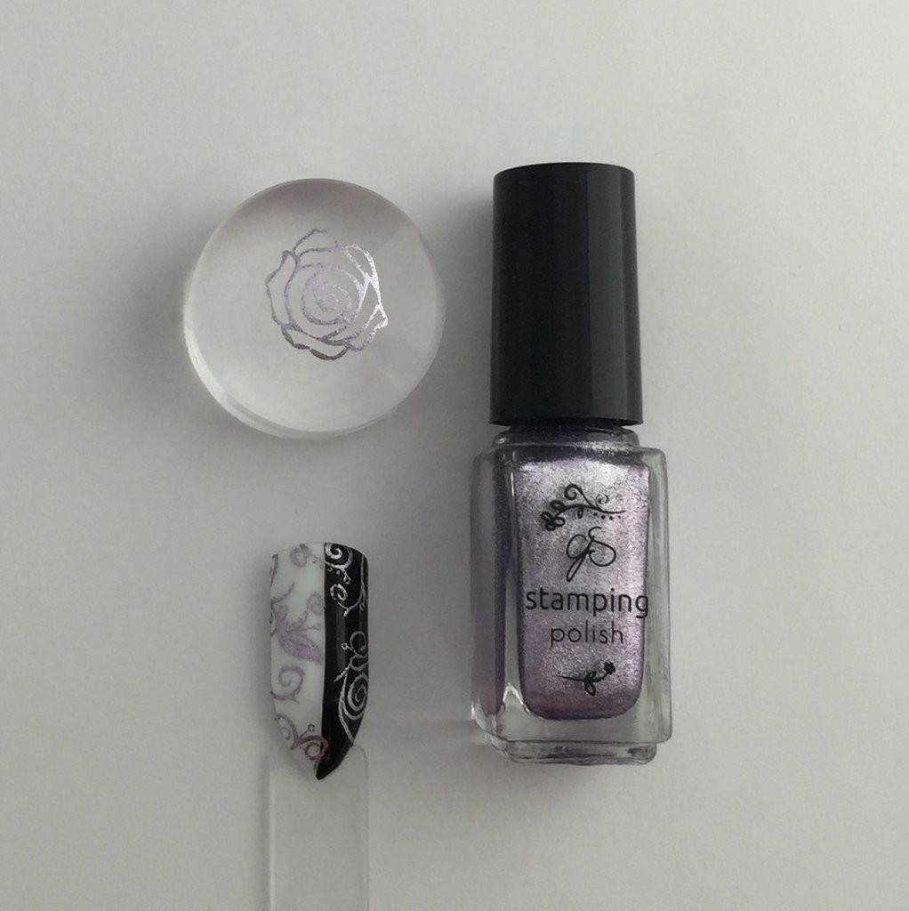 Clear Jelly Stamper nail stamping polish #35 Paulas Pixie Purple