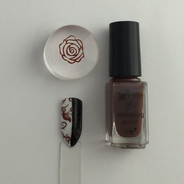 Clear Jelly Stamper nail stamping polish, #31 You Had Me at Chocolate.  Available at www.lanternandwren.com.