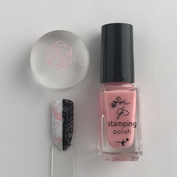 Clear Jelly Stamper stamping polish #21 Bubble Pop Pink, available at www.lanternandwren.com.