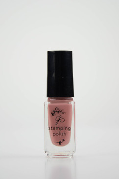 Clear Jelly Stamper stamping polish #75 Everything's Rosy, available at www.lanternandwren.com.