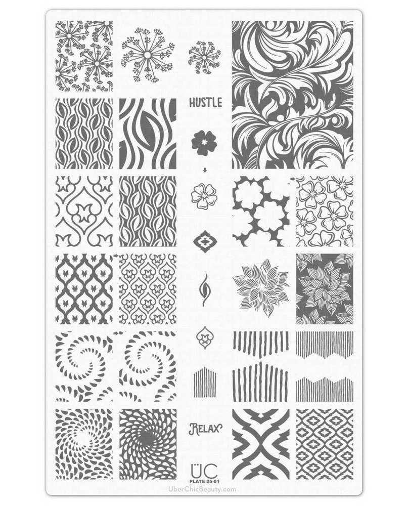 Uber Chic Collection 25 nail stamping plates, available at www.lanternandwren.com.