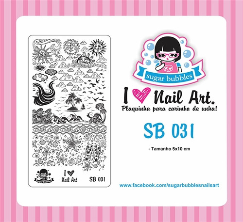 Sugar Bubbles SB031 nail stamping plate, available in the USA at www.lanternandwren.com.