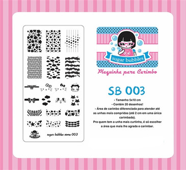 Sugar Bubbles SB003 nail stamping plate, available in the USA at www.lanternandwren.com.