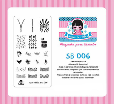 Sugar Bubbles SB006 nail stamping plate, available in the USA at www.lanternandwren.com.