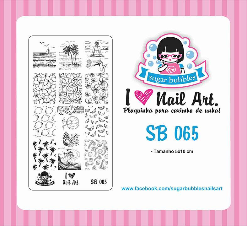 Sugar Bubbles SB065 nail stamping plate, available in the USA at www.lanternandwren.com.