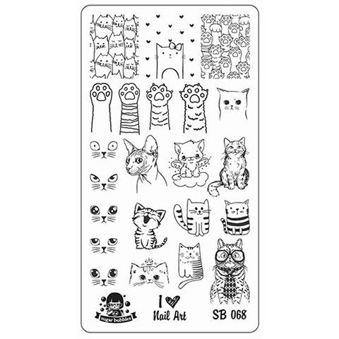 Sugar Bubbles SB068 nail stamping plate, available in the USA at www.lanternandwren.com.
