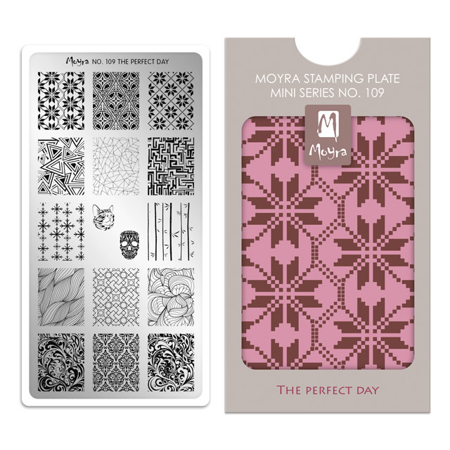 The Perfect Day, Moyra Mini Stamping Plate 109. Available at www.lanternandwren.com.